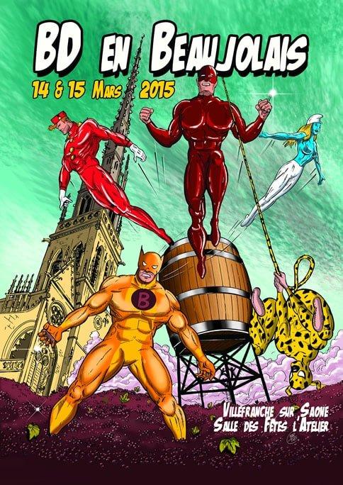 Affiche festival BD en Beaujolais
