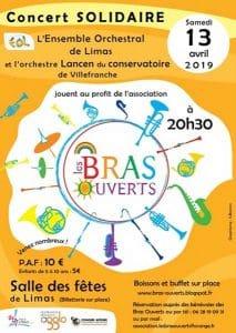 Concert solidaire au profit de l'association Les Bras ouverts